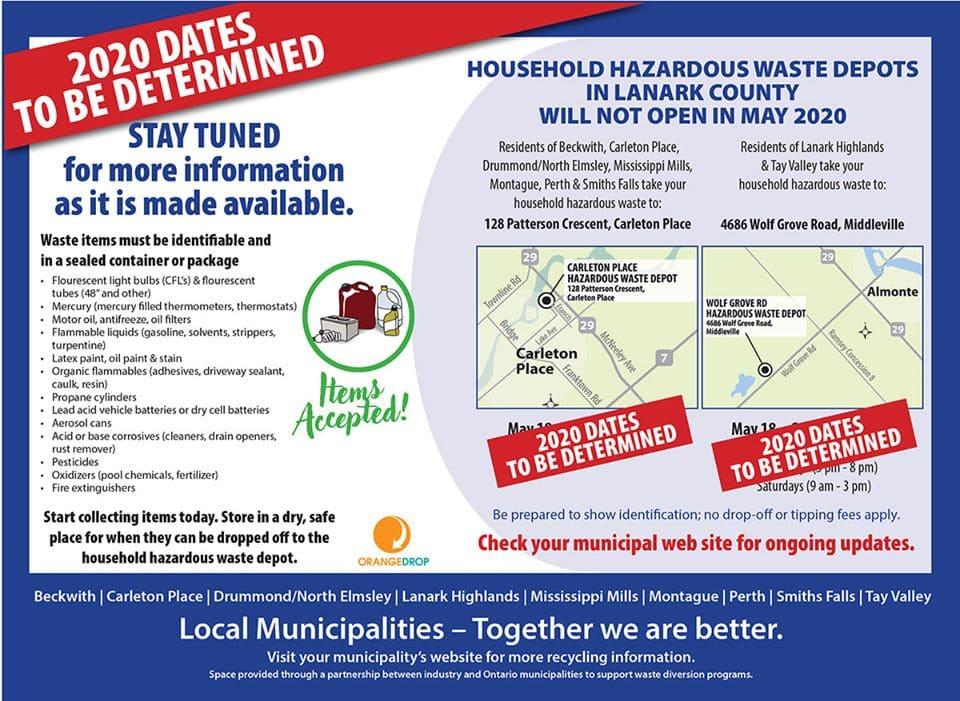 hazardous waste depot closed